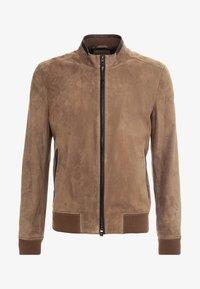 CORNELIANI - Leather jacket - beige - 4