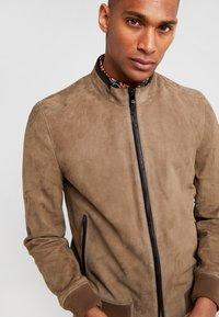 CORNELIANI - Leather jacket - beige - 3