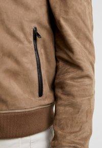 CORNELIANI - Leather jacket - beige - 5