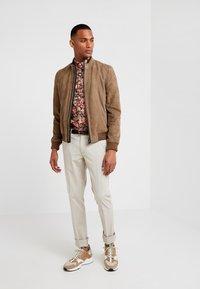 CORNELIANI - Leather jacket - beige - 1