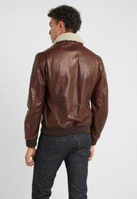 CORNELIANI - Leather jacket - bordeaux - 2