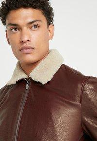 CORNELIANI - Leather jacket - bordeaux - 4