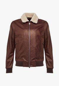 CORNELIANI - Leather jacket - bordeaux - 3