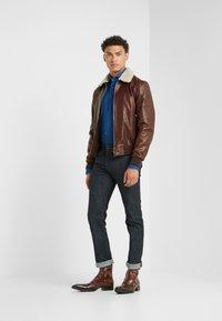 CORNELIANI - Leather jacket - bordeaux - 1