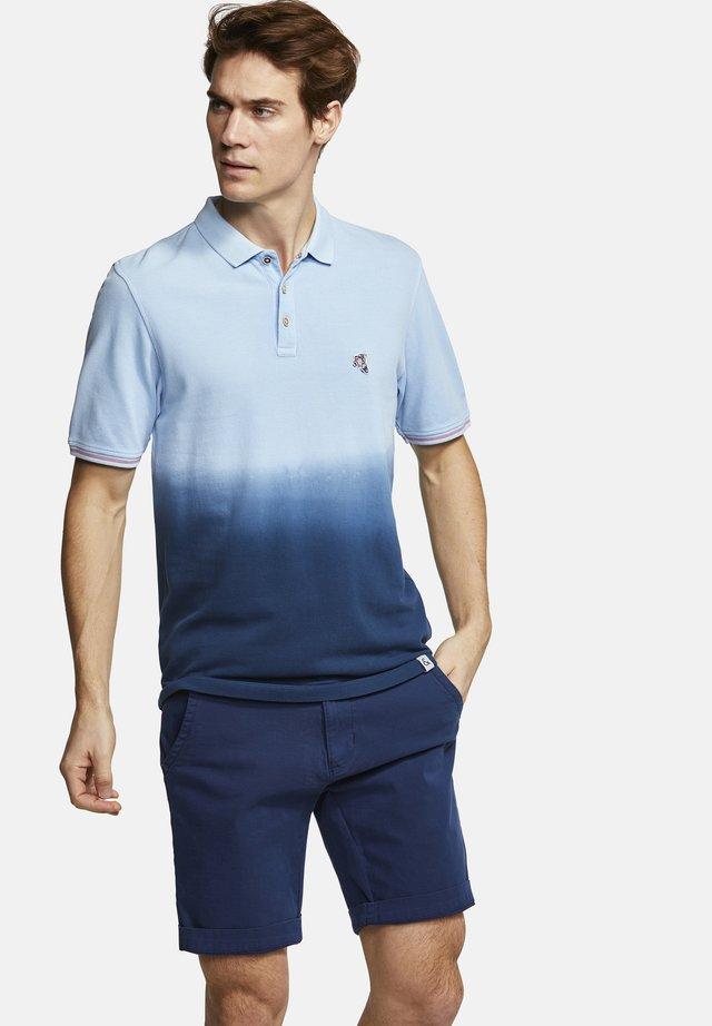 POLOSHIRT POLO-SHIRT DIP-DYE GLEN - Polo shirt - deep sea