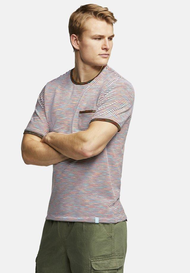T-SHIRT RINGEL MARIO - Print T-shirt - brown