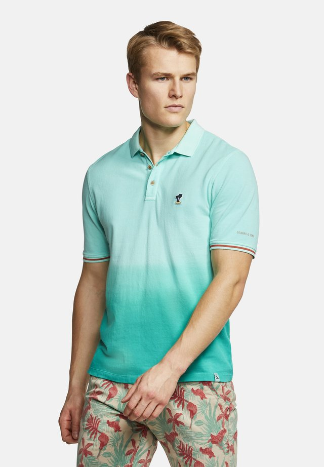 POLOSHIRT POLO-SHIRT DIP-DYE GLEN - Polo shirt - turquoise