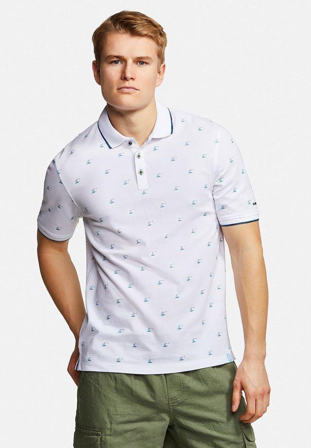 POLOSHIRT POLO PRINT RICHARD - Polo shirt - off white
