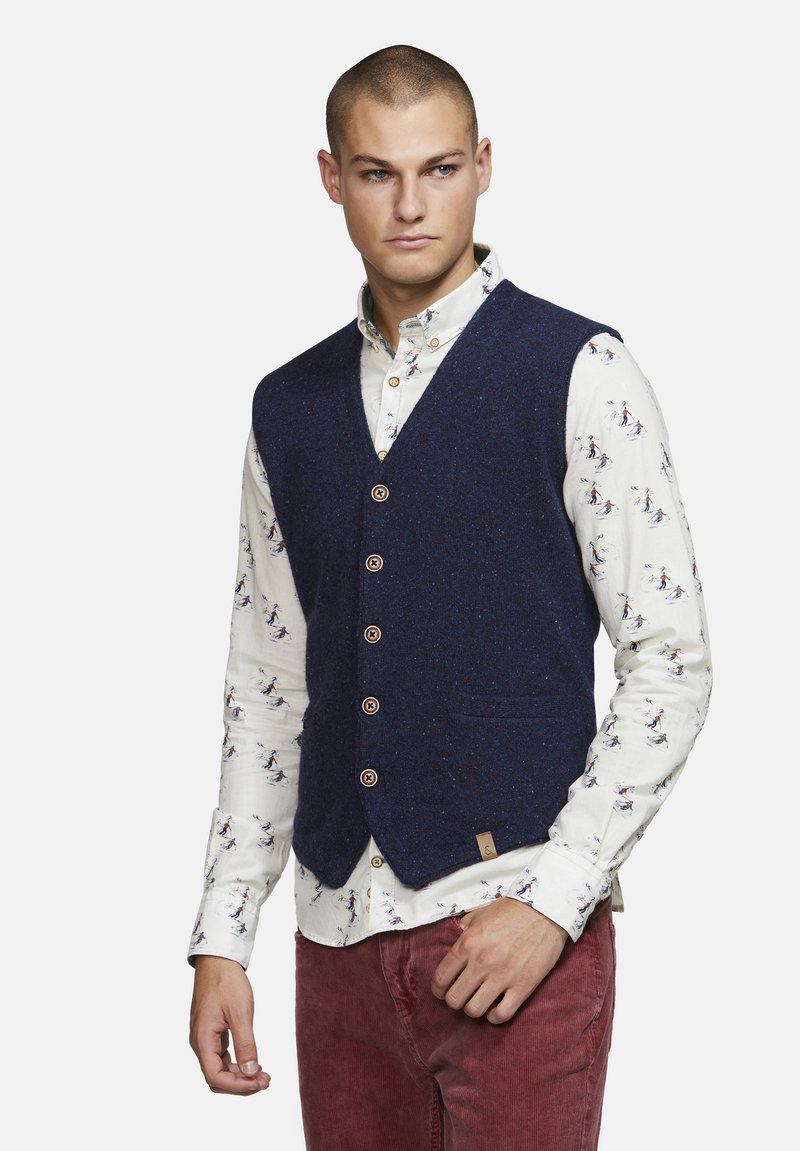 Colours & Sons - TANNER  - Waistcoat - navy