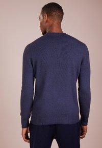 120% Cashmere - Strikpullover /Striktrøjer - blue navy darkness - 2
