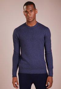 120% Cashmere - Strikpullover /Striktrøjer - blue navy darkness - 0