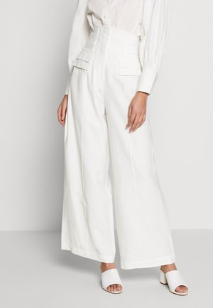 LIE AWAKE - Trousers - ivory
