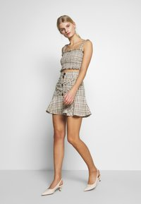 CMEO COLLECTIVE - FOR YOU LOVE SKIRT - Mini skirt - ivory tweed - 1