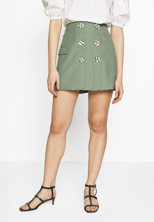JUST THE SAME SKIRT - Spódnica trapezowa - green