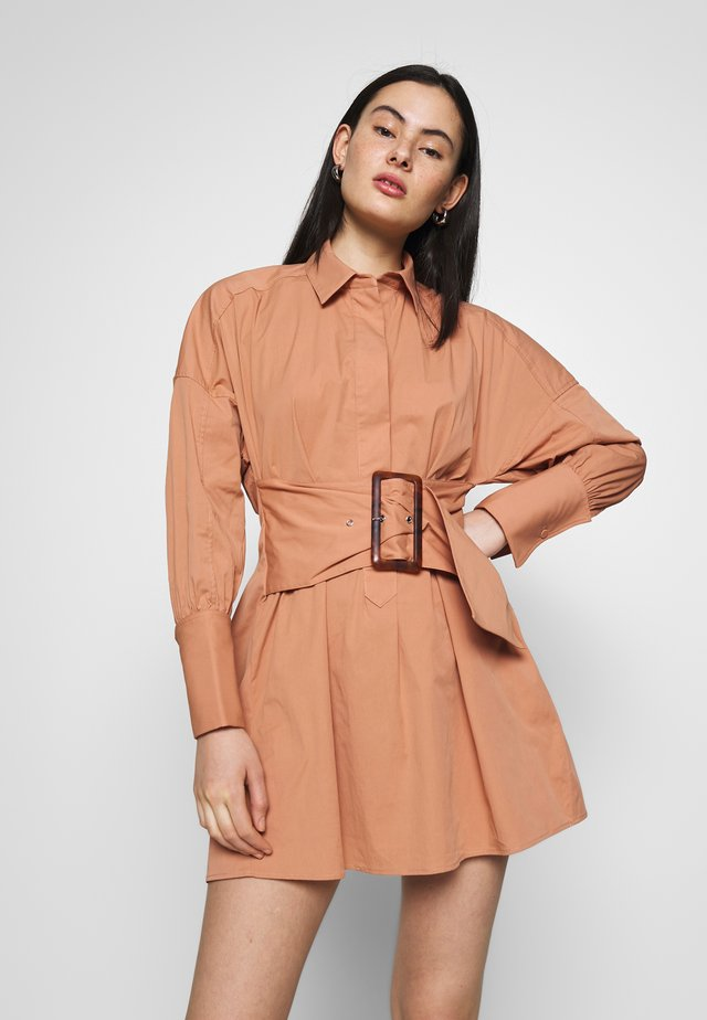 ARTWORK DRESS - Shirt dress - tan