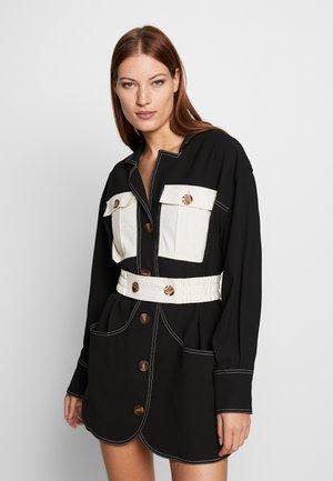 CONSISTENT DRESS - Shirt dress - black/stone