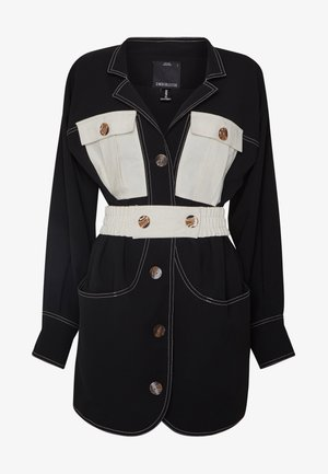 CONSISTENT DRESS - Shirt dress - black/stone