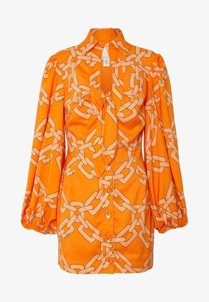 MORNINGS DRESS - Shirt dress - tangerine chain