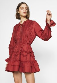 CMEO COLLECTIVE - SLOW DOWN DRESS - Day dress - carmine - 0