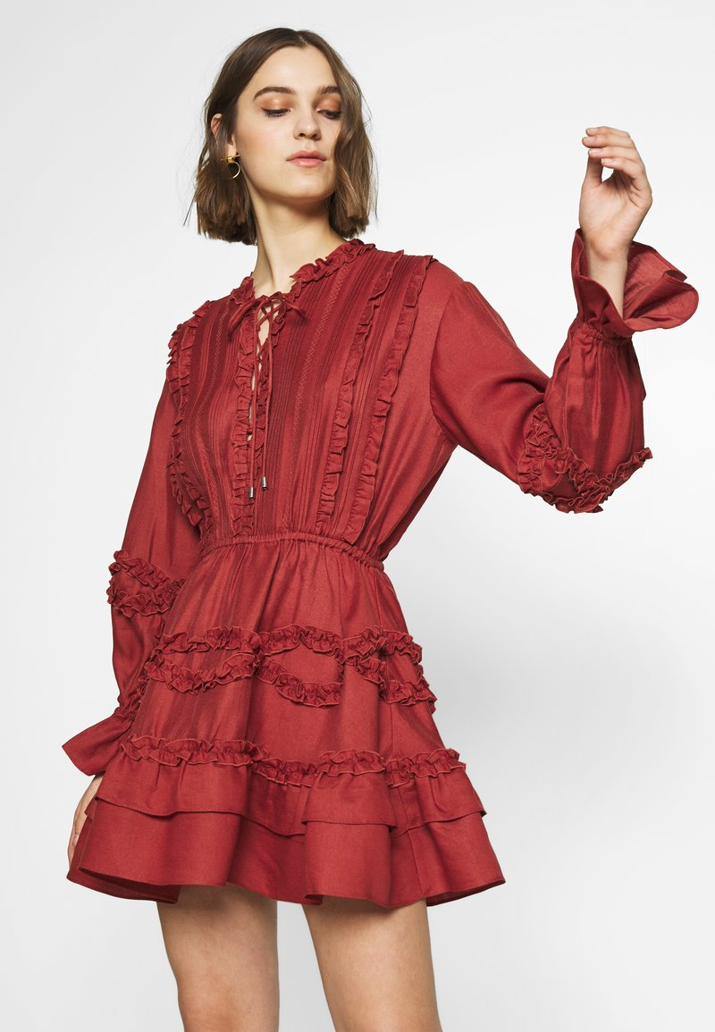 CMEO COLLECTIVE - SLOW DOWN DRESS - Day dress - carmine