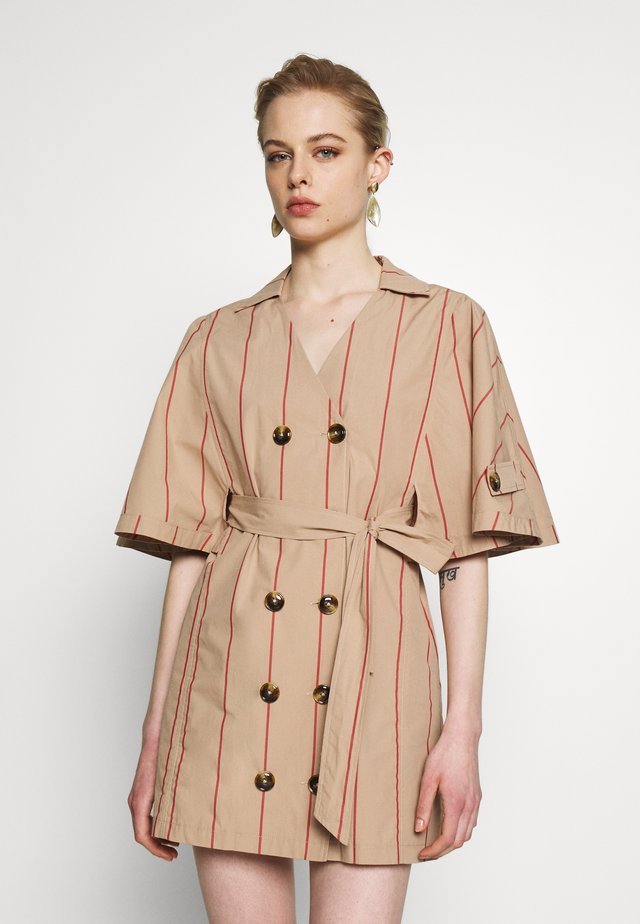 APPRECIATE DRESS - Shirt dress - brown