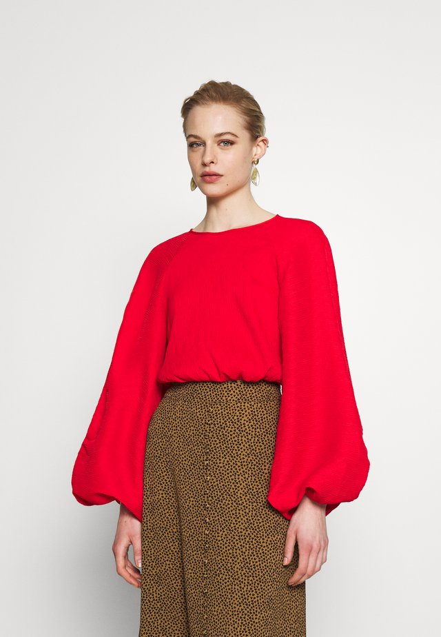 COMES IN WAVES TOP - Blouse - red