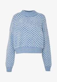 CMEO COLLECTIVE - STUCK ON YOU JUMPER - Svetr - blue - 4