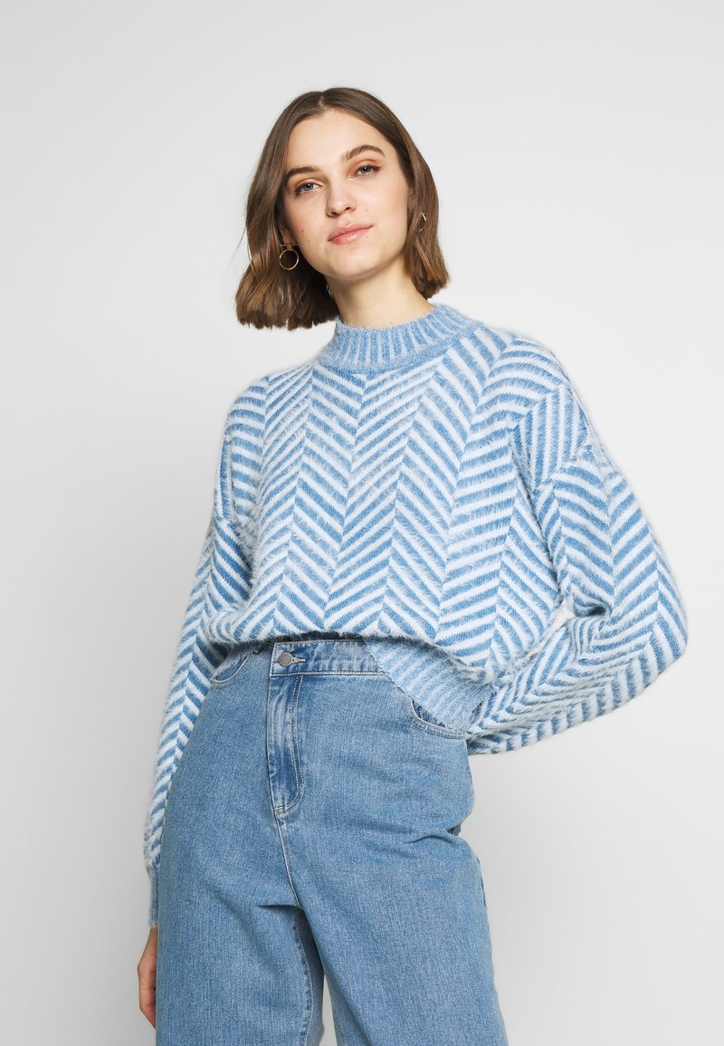 CMEO COLLECTIVE - STUCK ON YOU JUMPER - Svetr - blue