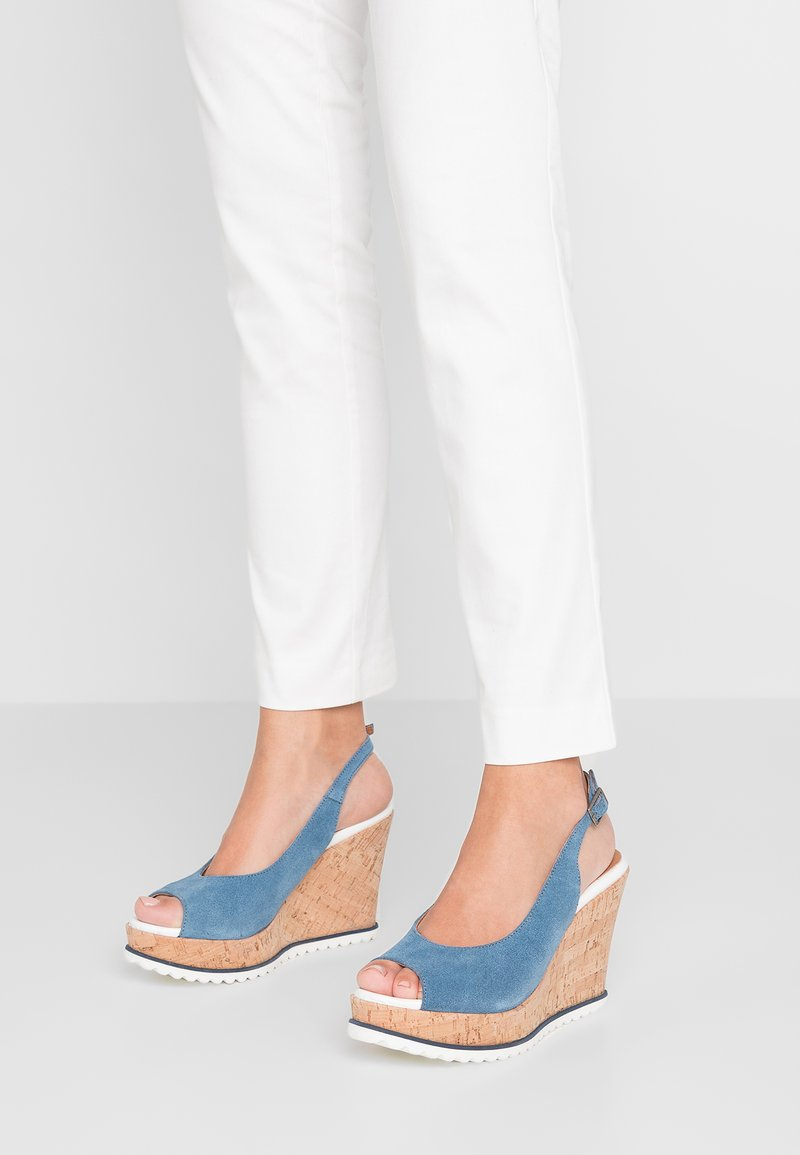 Cream - SILJA - High Heel Sandalette - baby blue