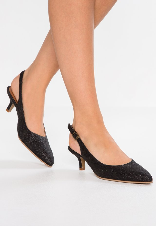 MALLY SLINGBACK - Classic heels - pitch black