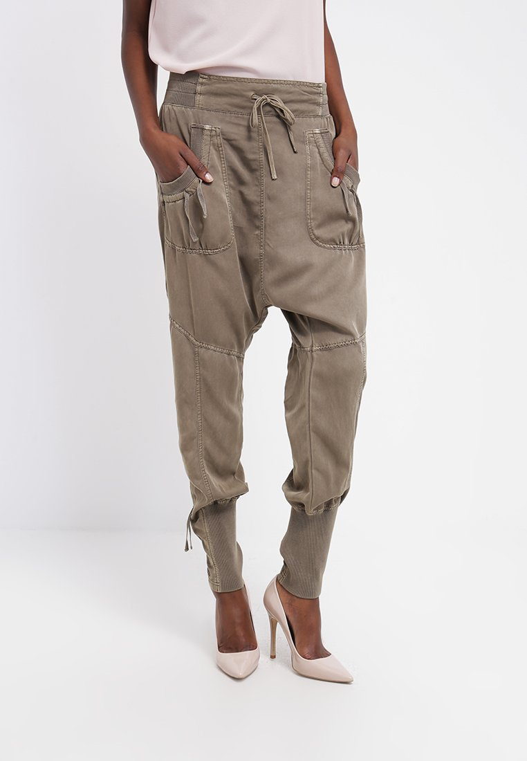 Cream - NANNA PANTS - Broek - khaki