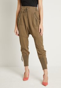 Cream - NANNA PANTS - Bukser - khaki - 0