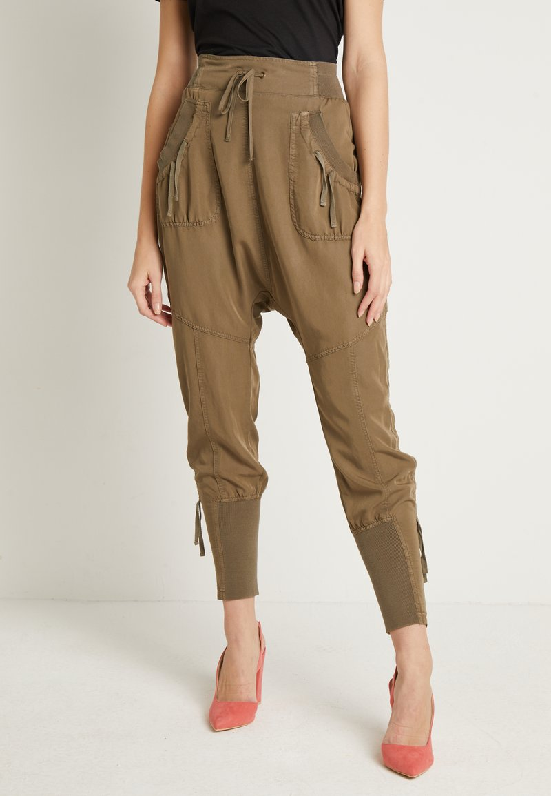 Cream - NANNA PANTS - Bukser - khaki