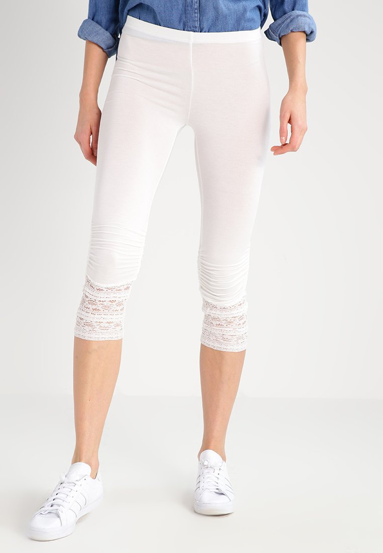 Cream - AGNES  - Leggings - Trousers - chalk
