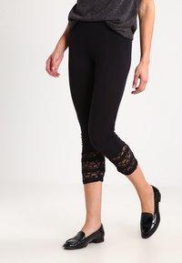 Cream - AGNES  - Leggings - Trousers - pitch black - 0