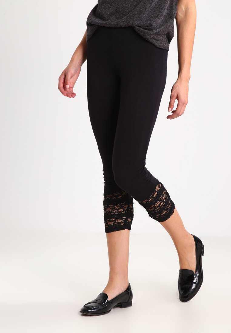 Cream - AGNES  - Leggings - Trousers - pitch black