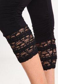 Cream - AGNES  - Leggings - Trousers - pitch black - 4