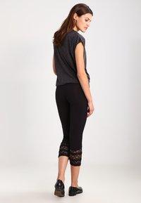 Cream - AGNES  - Leggings - Trousers - pitch black - 2