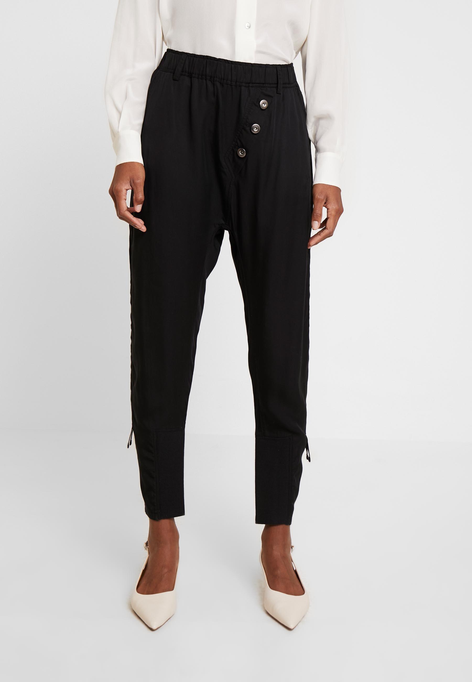 Cream SILLIAN PANTS - Spodnie materiałowe - pitch black