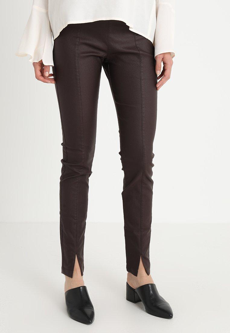 Cream - BELUS SLIT PANTS KATY ANKLE - Leggings - hot java