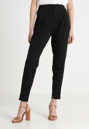 ANETT PIPING PANTS - Bukser - pitch black