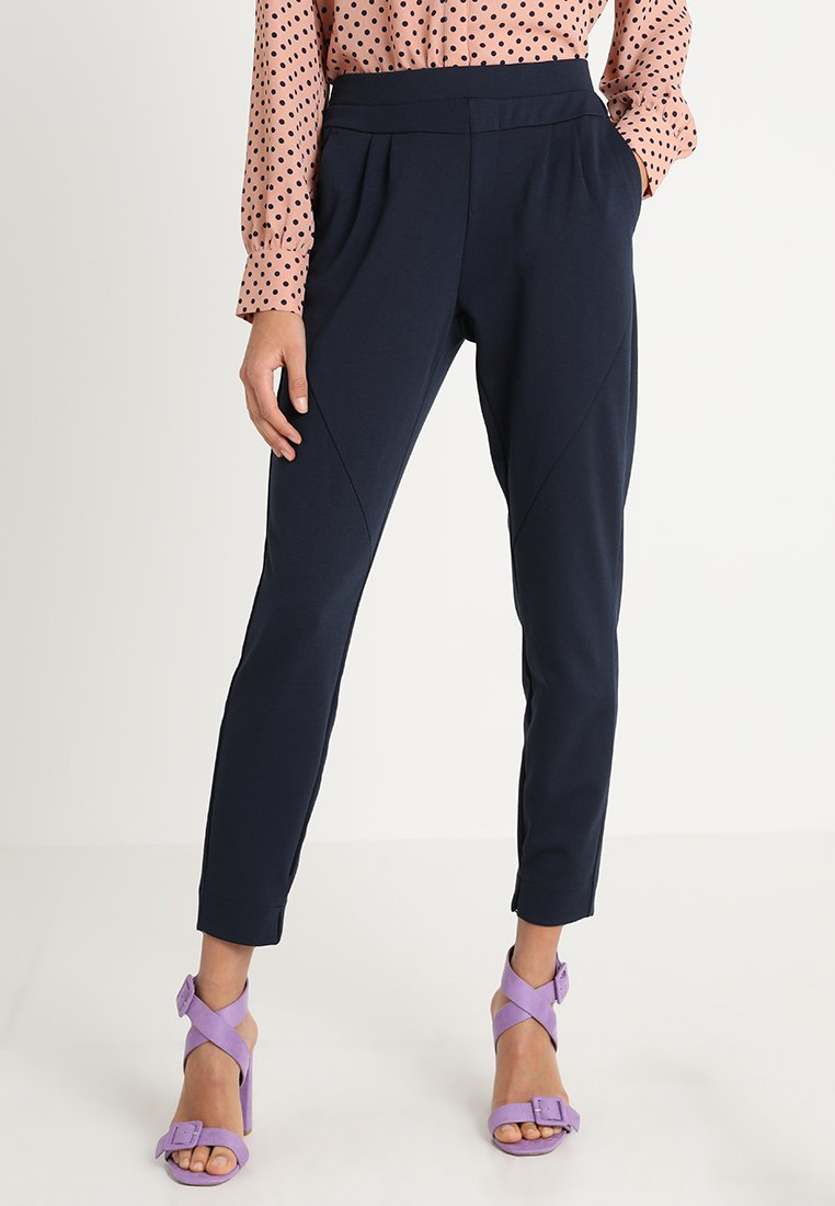 Cream - ANETT PANTS - Broek - royal navy blue
