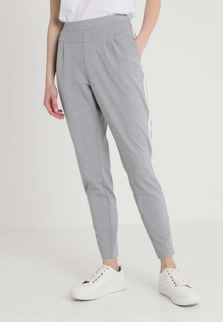 Cream - BEATE PANTS - Trousers - light grey melange