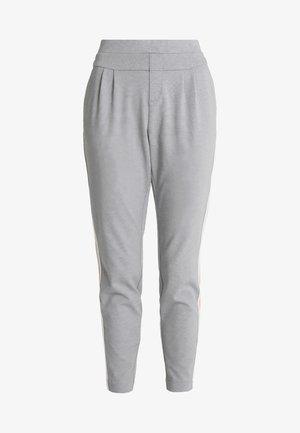 BEATE PANTS - Trousers - light grey melange