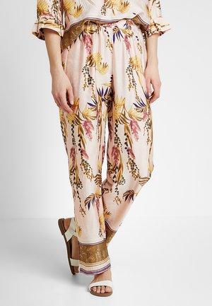 MONIQUE PANTS LONG - Spodnie materiałowe - sunshine rose