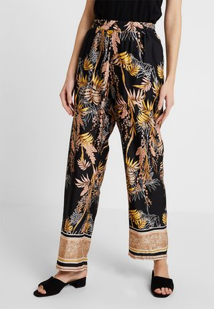 MONIQUE PANTS LONG - Trousers - pitch black