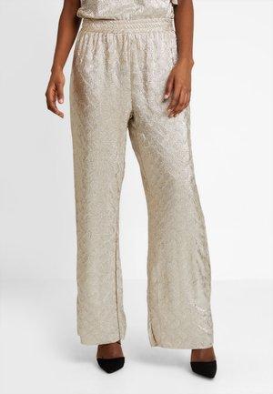 SHANIA PANTS - Pantaloni - dull gold