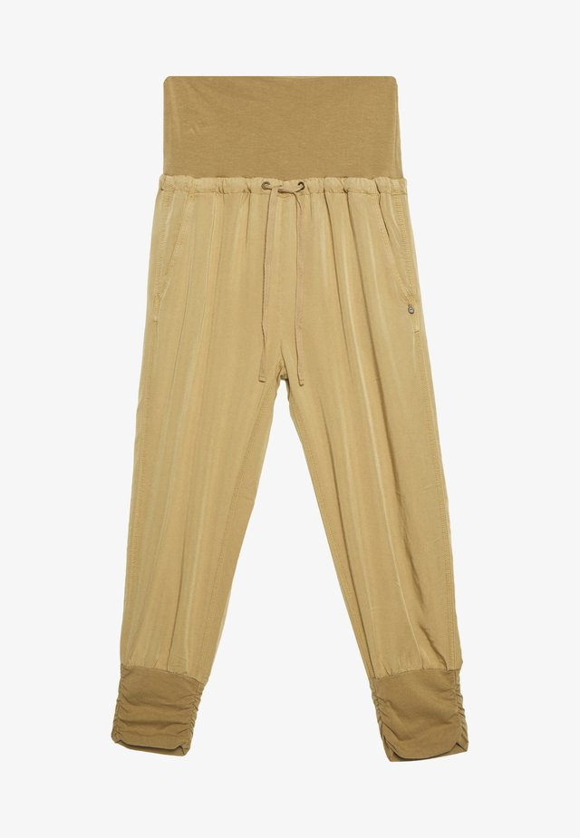 LINE PANTS - Trousers - dark sand