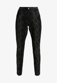 Cream - AMY SNAKE PANTS COCO - Pantalones - black - 3