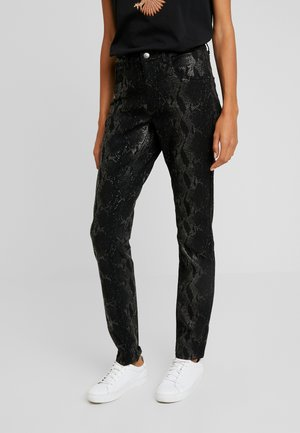 AMY SNAKE PANTS COCO - Trousers - black